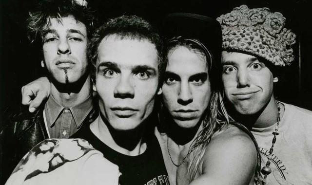 The original formation: Hillel Slovak, Michael 'Flea' Balzary, Anthony Kiedis and Jack Irons.