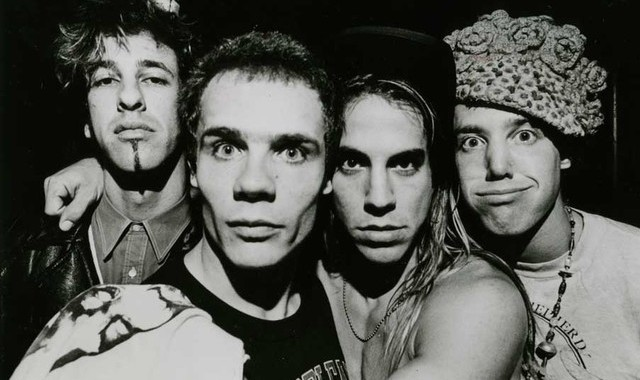 The original formation: Hillel Slovak, Michael 'Flea' Balzary, Anthony Kiedis and Jack Irons.